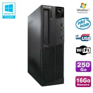 PC Lenovo M91p 7005 SFF Intel G630 2,7Ghz 16Go Disque 250Go WIFI W7 Pro