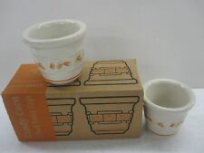 Longaberger Candy Corn Votives Candle Holders Cups Pottery (Set of 2) New In Box