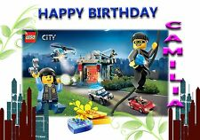 LEGO CITY POLICE 1   - Personalised Birthday Greeting Card A5 Friend / son / any