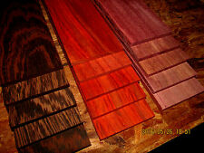 "15 PIECE MULTIPAK THIN EXOTIC WENGE, PURPLEHEART, PADAUK 12"" X 3"" X 1/4"""