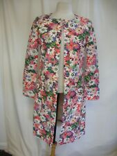 "Ladies Summer Coat Kath Kidston XS, pink purple floral, length 37"", lined 2438"