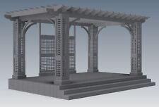 OUTDOOR ENTERTAINER DECK & GRAPE VINE PERGOLA / PATIO - V01  (Building Plans)