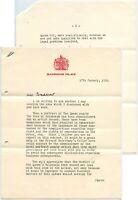 1956 LETTER BUCKINGHAM PALACE Q.ELIZABETH + PRINCE PHILIP PORTRAITS to BRADSHAW