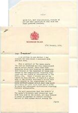More details for 1956 letter buckingham palace q.elizabeth + prince philip portraits to bradshaw