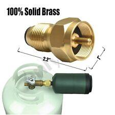 Universal Propane 1lb Tanks Refill Adapter- 100% Solid Brass Regulator Valve NEW