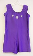 PURPLE LYCRA+RINESTONE BIKETARD/LEO DANCE GYMNASTIC SKATE COSTUME-Size CHILD-2X