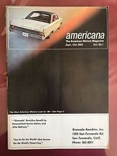 1965 AMERICANA -THE AMERICAN MOTORS AUTOMOBILE MAGAZINE VERY FIRST ISSUE AMC