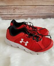 Boys Youth 7 Under Armour Red White Black Assert 6 Athletic Shoes