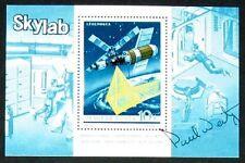 s1500) Raumfahrt Ungarn Skylab Gedenkblock mit Originalunterschrift Paul Weitz