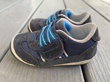 Stride Rite Boy's Soft Motion Hammett Sneaker Infant Size 5.5 WIDE Blue
