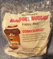 1988 McNugget Buddies  McDonalds Happy Meal Toy -  Corny the Popcorn Vendor