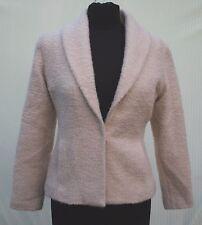 Eileen Fisher Sz XS Blazer Jacket Wool Blend Cream Light Beige Sport Coat Womens