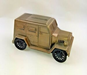 Vintage Die Cast Armored Car Bank Northwest Savings Advertising Promo Coin Bank