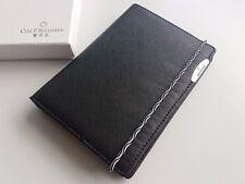 Carl F.Bucherer Black Leather Wallet Notebook / Passport Holder