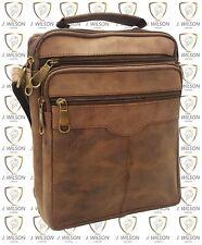 Mens Leather Shoulder Bag Designer Brief Case Cross body Work Messenger College
