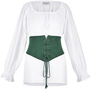 NEW Holy Clothing EVA BELT Large Green Jade Lace-Up Wide Celtic Brass Eyelet L