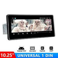 "10.25"" Universal In-dash Radio Android 10.0 Head Unit Player Car Bluetooth Fm"