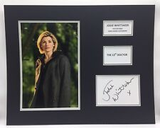 RARE Jodie Whittaker Dr Who Signed Photo Display + COA AUTOGRAPH DOCTOR WHO