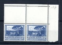 South Africa 1940 3d blue SG117b (Stamps MNH) Corner Pair WS17790