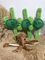 Wild Republic Huggers Plush Turtle and an Octopus Lot