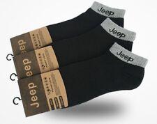 New Jeep Mens Socks Cotton Socks  3 Pairs Black Size 6-11