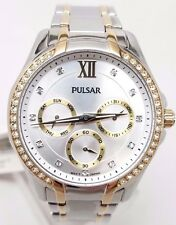Pulsar PP6100 Women's Watch Two-Tone Chronograph with Swarovski Crystals