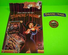 Bally THEATRE OF MAGIC Original NOS Pinball Machine Flyer + Key Chain + Decal