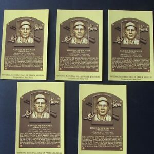 5 HAL NEWHOUSER UNSIGNED  HOF PLAQUE POSTCARDS