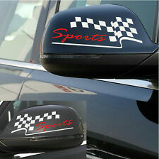 2 PCS Vinyl SPORTS Rear View Mirror Car Sticker Auto Wing Mirror Decal Emblem