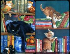 SWAP CARDS OF BLACK CAT AND KITTENS PLAYING IN THE LIBRARY (NEW) PAIR