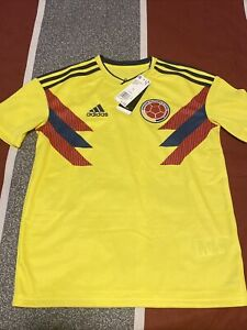 $70 Adidas Colombia World Cup Home Jersey Youth Sz LARGE Yellow Soccer BR3509