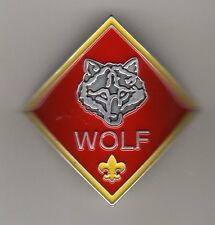 Wolf Cub Scout Rank (Diamond) Hiking Stick Medallion, Mint in Pkg!