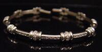 Roberto Coin 18k White Gold .90 Carat Diamond Bar Tennis Bracelet Small Wrist