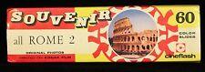 60 Vintage Souvenir Rome 2 Color Slides Made in Italy Cineflash on Kodak Film
