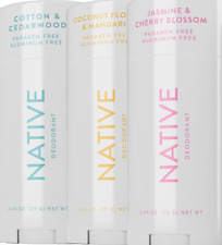 Native Deodorant BRIGHT SPRING SCENTS Cherry Blossom, Mandarin, Cotton NATURAL!