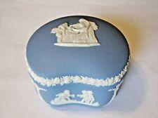 Wedgwood Jasperware Light Blue/White Keepsake/Ring Box - Made in England (23)