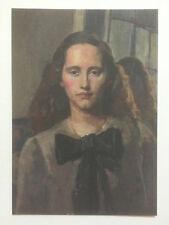 "Gerald Leslie brockhurst, ""Ritratto di Nancy"" carta promozionale."