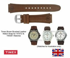 Genuine Timex Brushed Leather Watch Strap Band for T47012, T44381 watches - 20mm