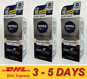 3 x NIVEA MEN EXTRA WHITE SUPER SERUM Moisturizer Whitening SPF50 PA+++ 50ml