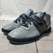 Reebok Workout Mid Strap Mens Size 10 Gray Black Blue