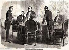 II Guerra d'Indipendenza Italiana: Firma PACE DI ZURIGO. Luigi des Ambrois. 1859