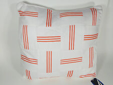 "NEW NAUTICA SANTA BARBARA DECORATIVE THROW PILLOW FULL QUEEN KING WHITE 18""X18"""