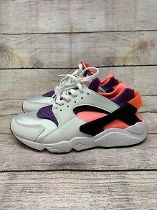 Nike Air Huarache Bright Mango Purple White Sneakers Men's 10.5 DD1068-101