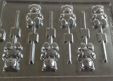 TEDDY BEAR CHOCOLATE LOLLIPOP LOLLY MOULD MOLD 6 ON 1 IDEAL FOR BABY SHOWERS