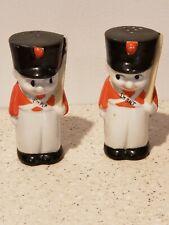 Vintage Fat Children Soldiers Ceramic Salt & Pepper Shakers Japan