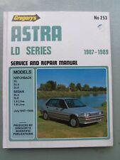 HOLDEN ASTRA LD SERIES WORKSHOP MANUAL 1987/1989