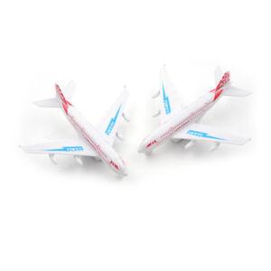 Kid Plastic Plane Toy Kid Diecast Pull back Airbus A380 Boeing 777 toy gift B&qi