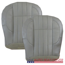 98- 01 Jeep Cherokee SE 2 Door Driver Passenger. Bottom Leather Seat cover GRAY