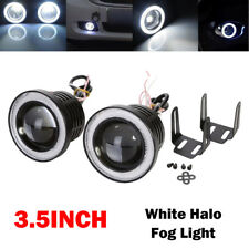 New listing 2x High Power 3.5 inch Projector Led Fog Light w/ White Angel Eyes Halo Ring Drl