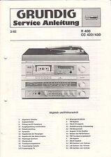 Grundig-R 400 CC 420/430 - 3/82 - Istruzioni di servizio grafico-b3143